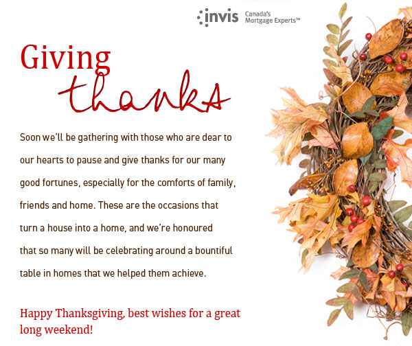 Happy Thanksgiving 2013 | CanadianMortgageCo.com