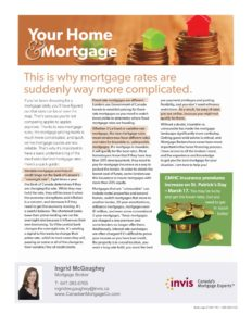 Mortgage broker newsletter canada